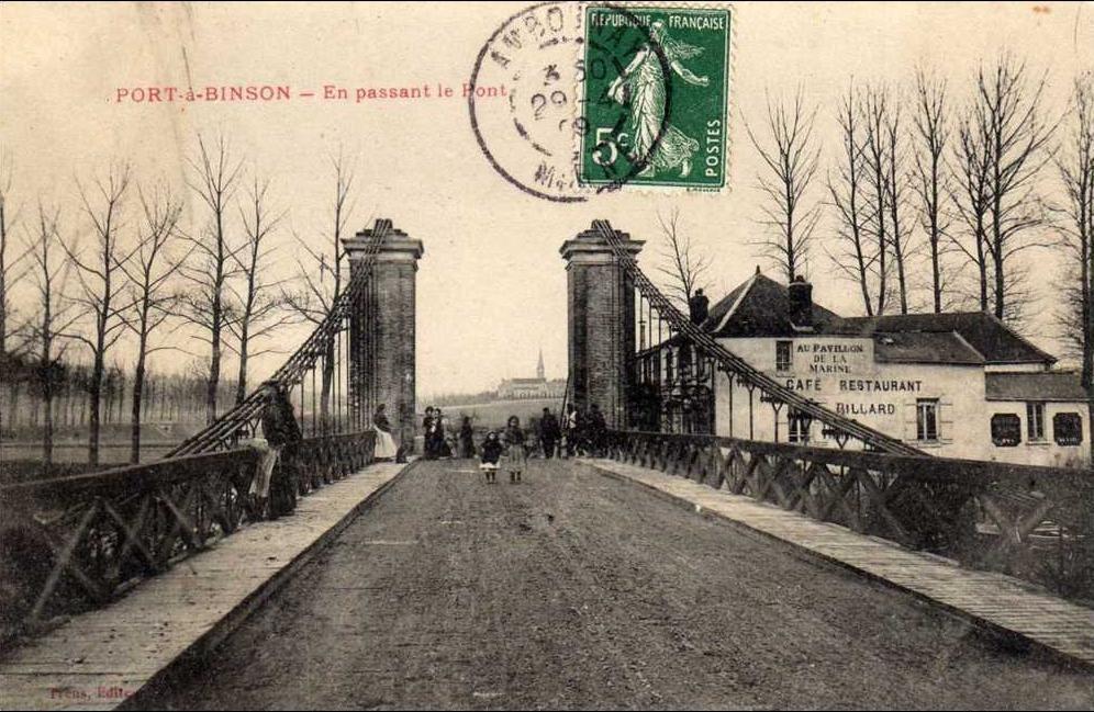 51 Port à Binson En Passant Le Pont Voir Café Au Pavillon De