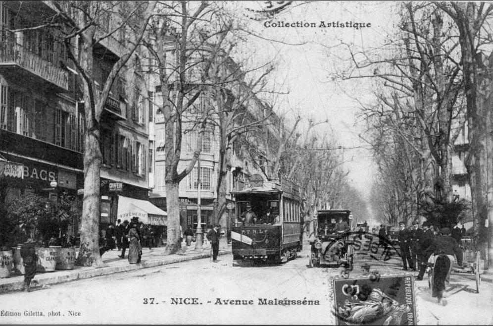 Nice -  Nice : Avenue Malausséna : Tramway