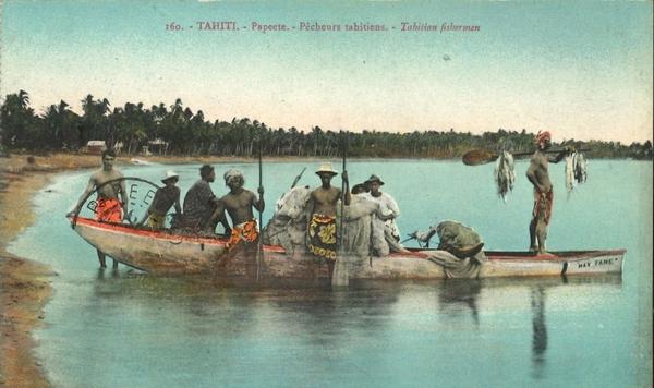 Papeete - Polynésie Française -Océanie - Tahiti - Papeete - Pêcheurs Tahitiens (Photo Gauthier)