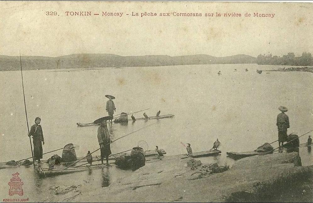 -  TONKIN - MONCAY / LA PECHE AUX CORMORANS SUR LA RIVIERE DE MONCAY