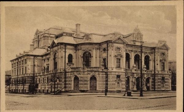 Riga - Cp Riga Lettland, II. Stadttheater, Straßenansicht