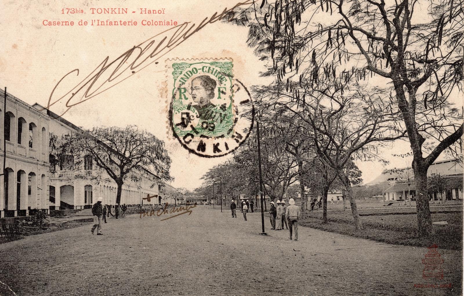 Hanoï -  TONKIN-Hanoï-Caserne de l'Infanterie Coloniale
