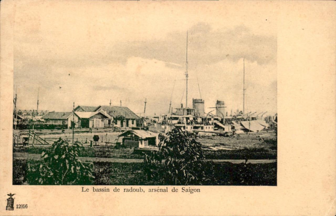 Saigon -  Le bassin de radoub, arsenal de Saïgon