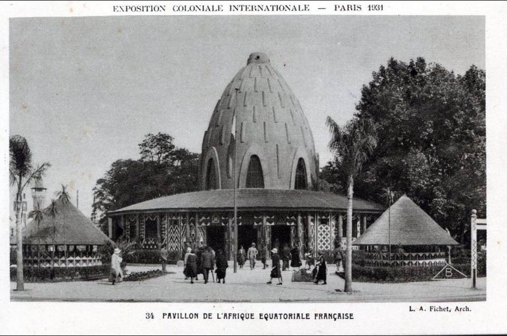 Carte De Lafrique Equatoriale Francaise.Paris Exposirion Coloniale Internationnal 1931 Pavillon De