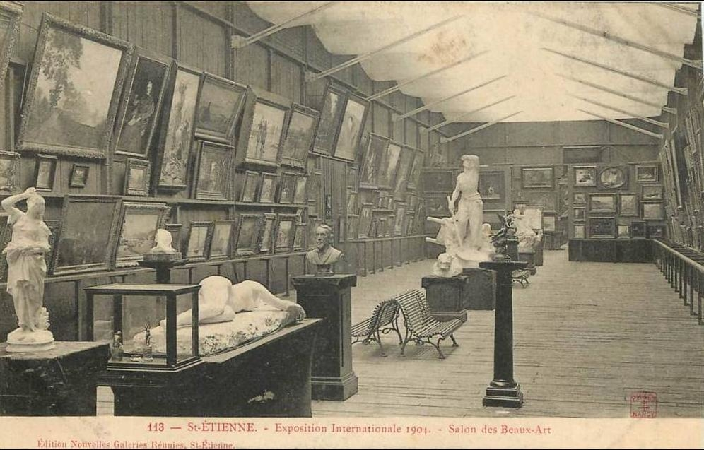 saint-etienne - saint etienne - exposition internationale 1904