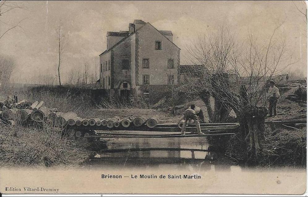 Brienon Sur Armancon Brienon Le Moulin De Saint Martin Carte Postale Ancienne Et Vue D Hier Et Aujourd Hui Geneanet