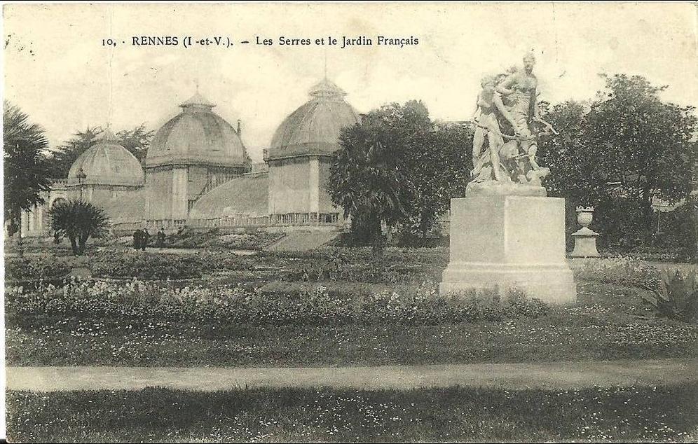 Rennes - RENNES - Les Serres et le Jardin Français - - Carte ...
