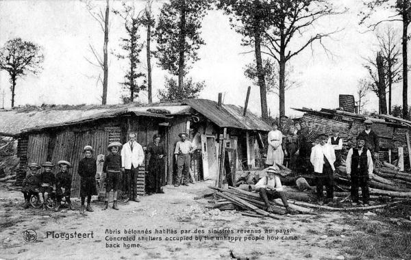"""Ploegsteert - Ploegsteert """" Des sinistrés revenus au pays aprés Guerre 1914-1918 """""""