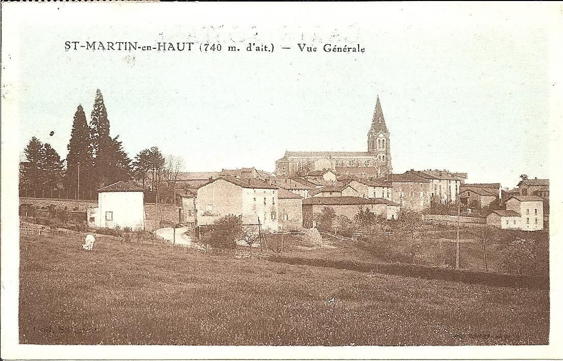 - St-Martin-En-Haut : Région Rhône-Alpes-Dpt du Rhône (69)Vue générale