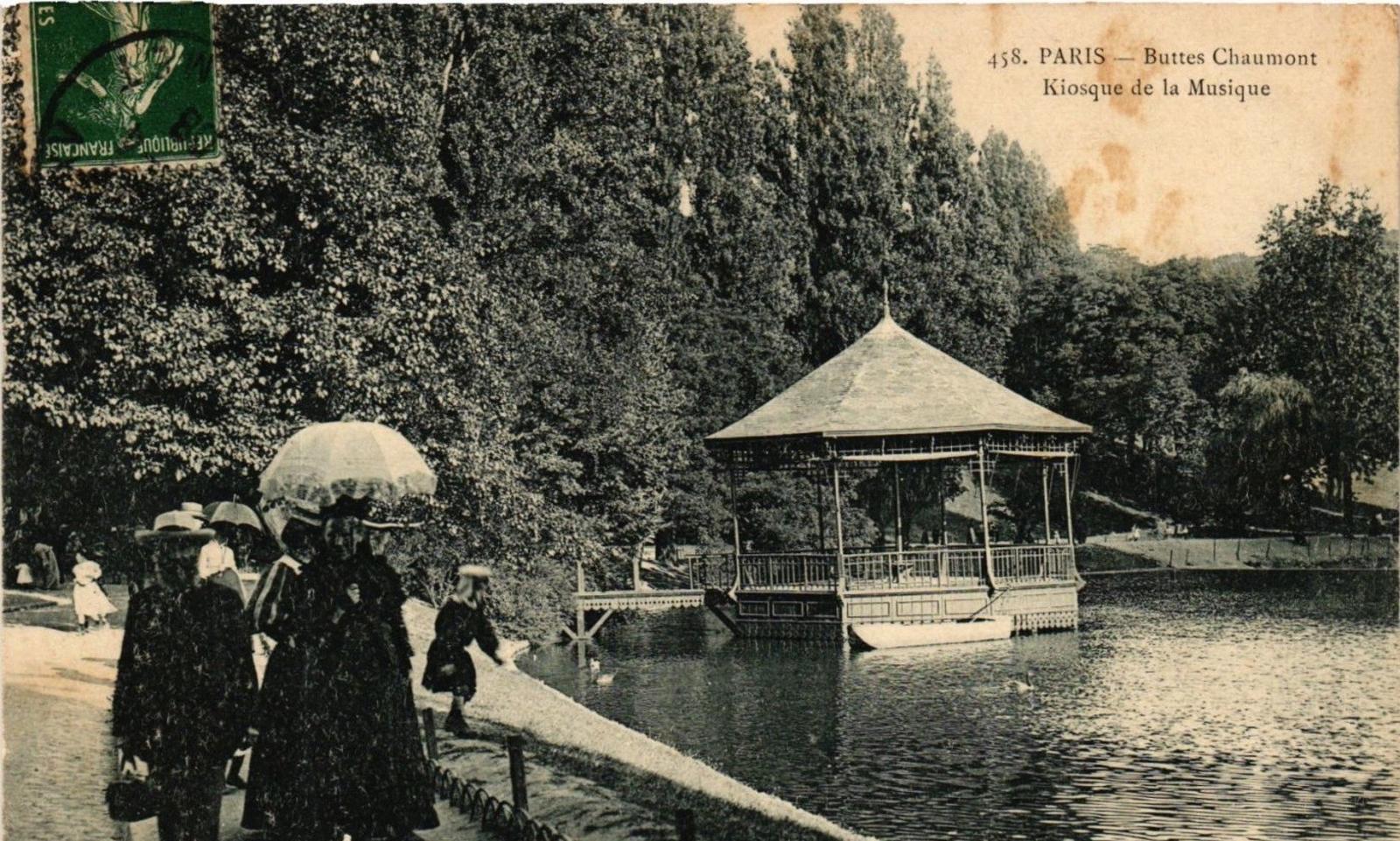 Paris - PARIS 19e Buttes Chaumont. Kiosque de la Musique P. Marmuse (479819)