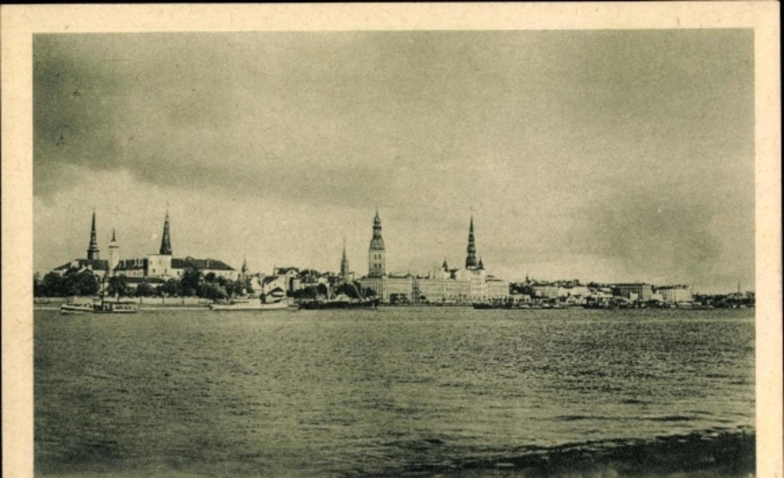 Riga -  Cp Riga Lettland, Panorama vom Ort
