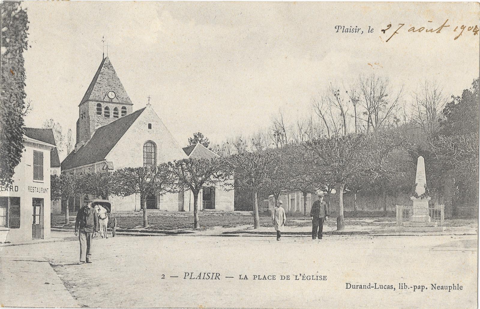 Plaisir - Plaisir (78) Place de l'Église - Affranchie en 1904