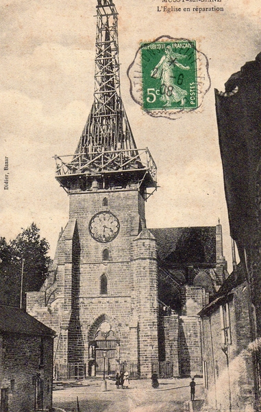 Mussy-sur-Seine - L'Eglise en travaux