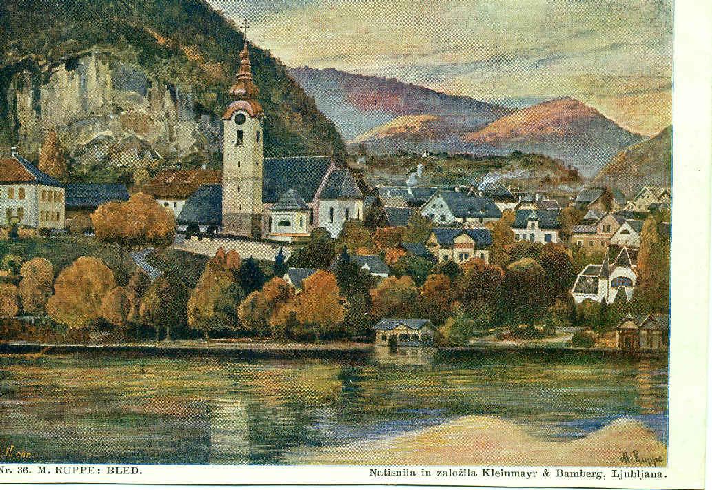 Bled -  vue du village de Bled