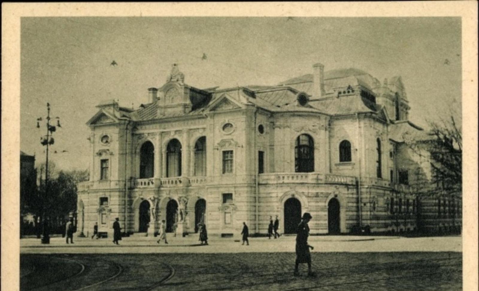 Riga -  Cp Riga Lettland, Theaterhaus, Straßenansicht