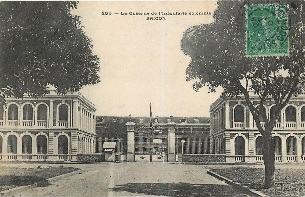 Ho-Chi-Minh -  VIET NAM . SAIGON . LA CASERNE DE L'INFANTERIE COLONIALE . CPA . 1907 .