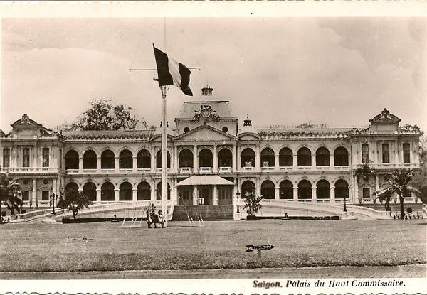 Saïgon - Saïgon  au Vietnam - palais du Haut Commissaire -au temps de la guerre d'Indochine
