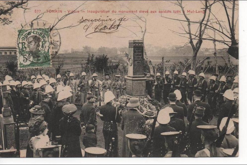 -  Viêt-Nam - Tonkin - Viétris - Inauguration du monument élevé aux soldats tués à Mui-Lang
