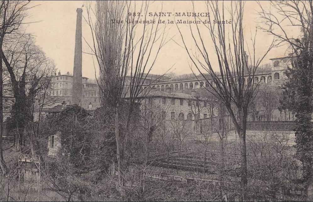 Saint Maurice - 94 .  val de marne : saint maurice : vue generale de la maison de santé .