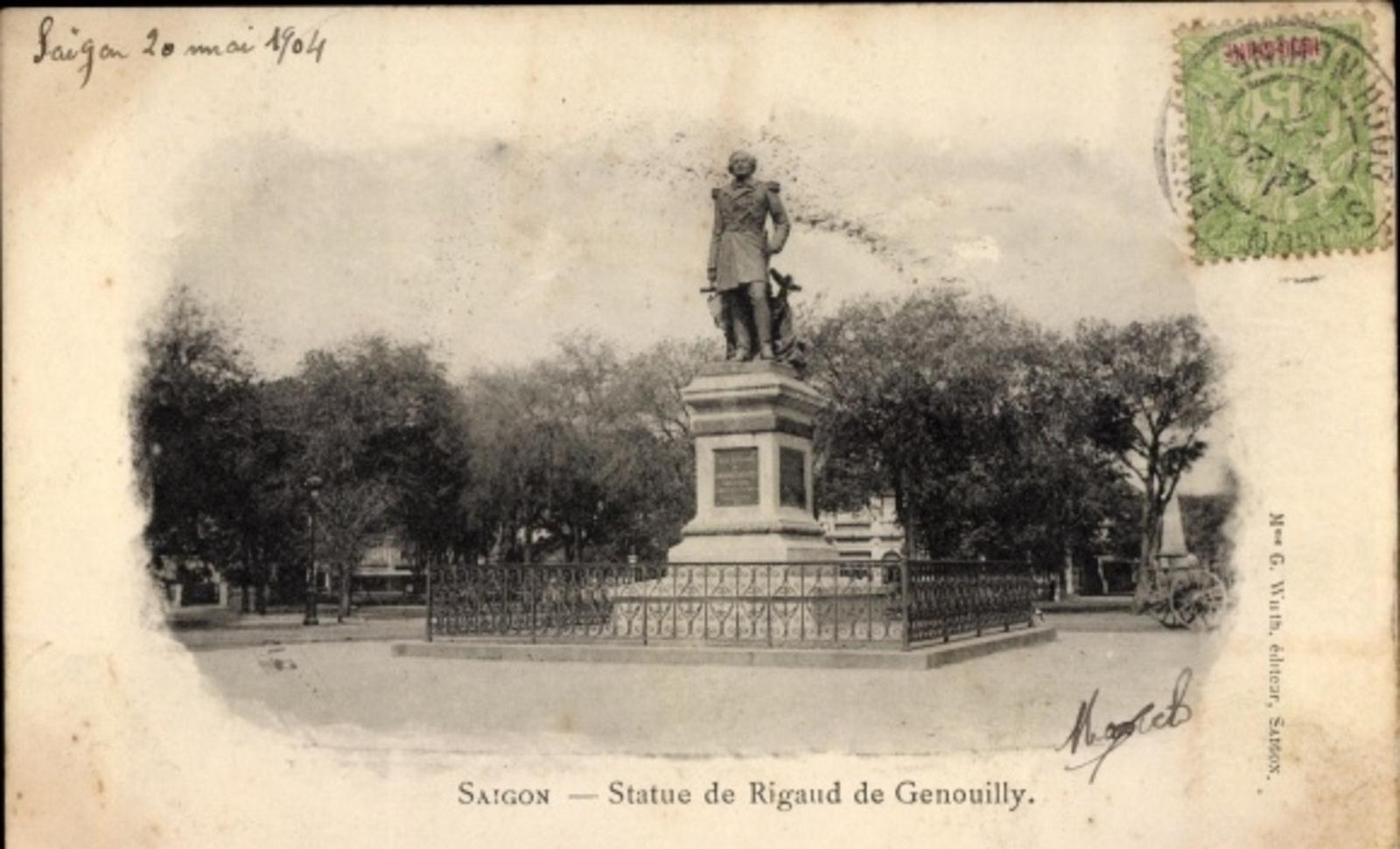 Hô Chi Minh-Ville -  Cp Saigon Cochinchine Vietnam, Statue de Rigaud de Genouilly