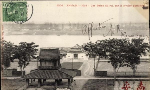 Hue - Cp Annam Vietnam, Hue, les Bains du Roi, sur la riviere parfumee