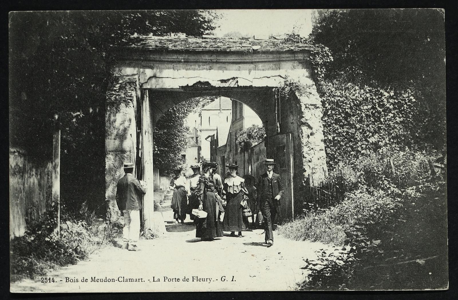 Meudon -  Bois de Clamart - Clamart - La porte de Fleury