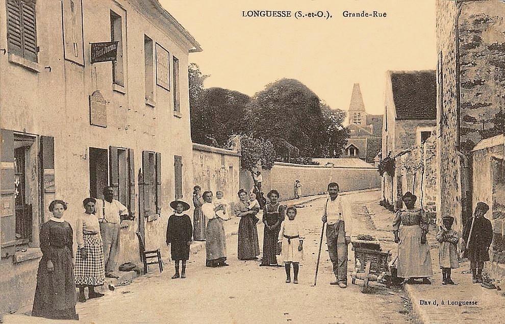 Longuesse - La grande rue (1ere vue).