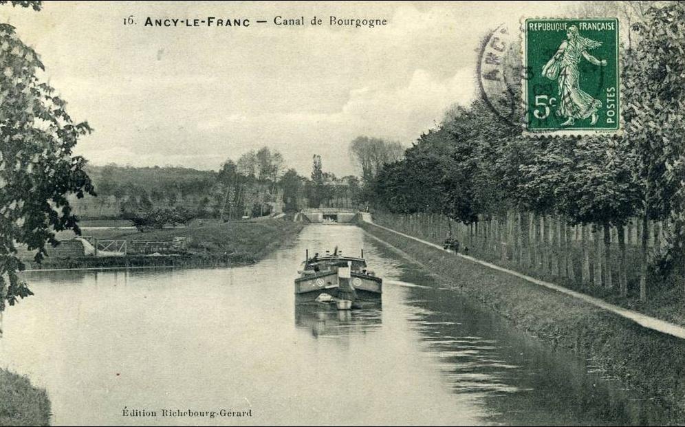 Canal De Bourgogne Carte.Ancy Le Franc Ancy Le Franc Canal De Bourgogne Carte Postale