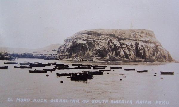 Arica - El Moro rock, Gibraltar of South America. Arica, Peru.