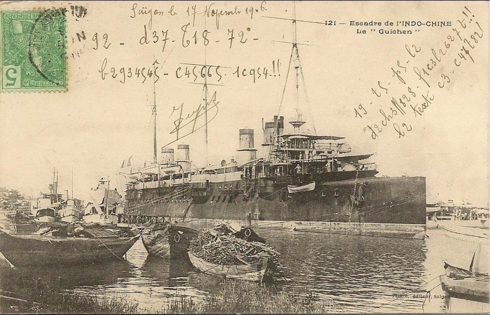 -  Viet-nam  -Escadre de l'Indochine le  Guiehen  -  numero 121 éditeur plante - (bateau)