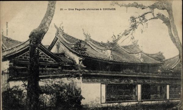 Cholon - Cp Cholon Saigon Cochinchine Vietnam, Une pagode chinoise, Chinesisches Dach