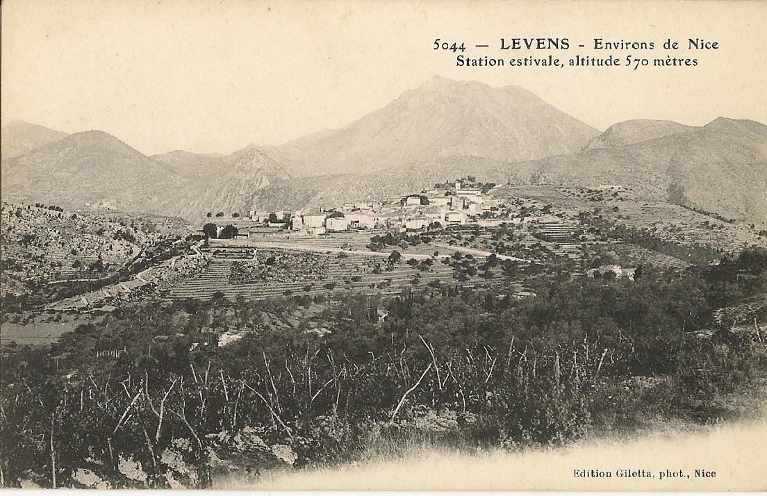 Levens - Levens - vue générale du village depuis la Grava