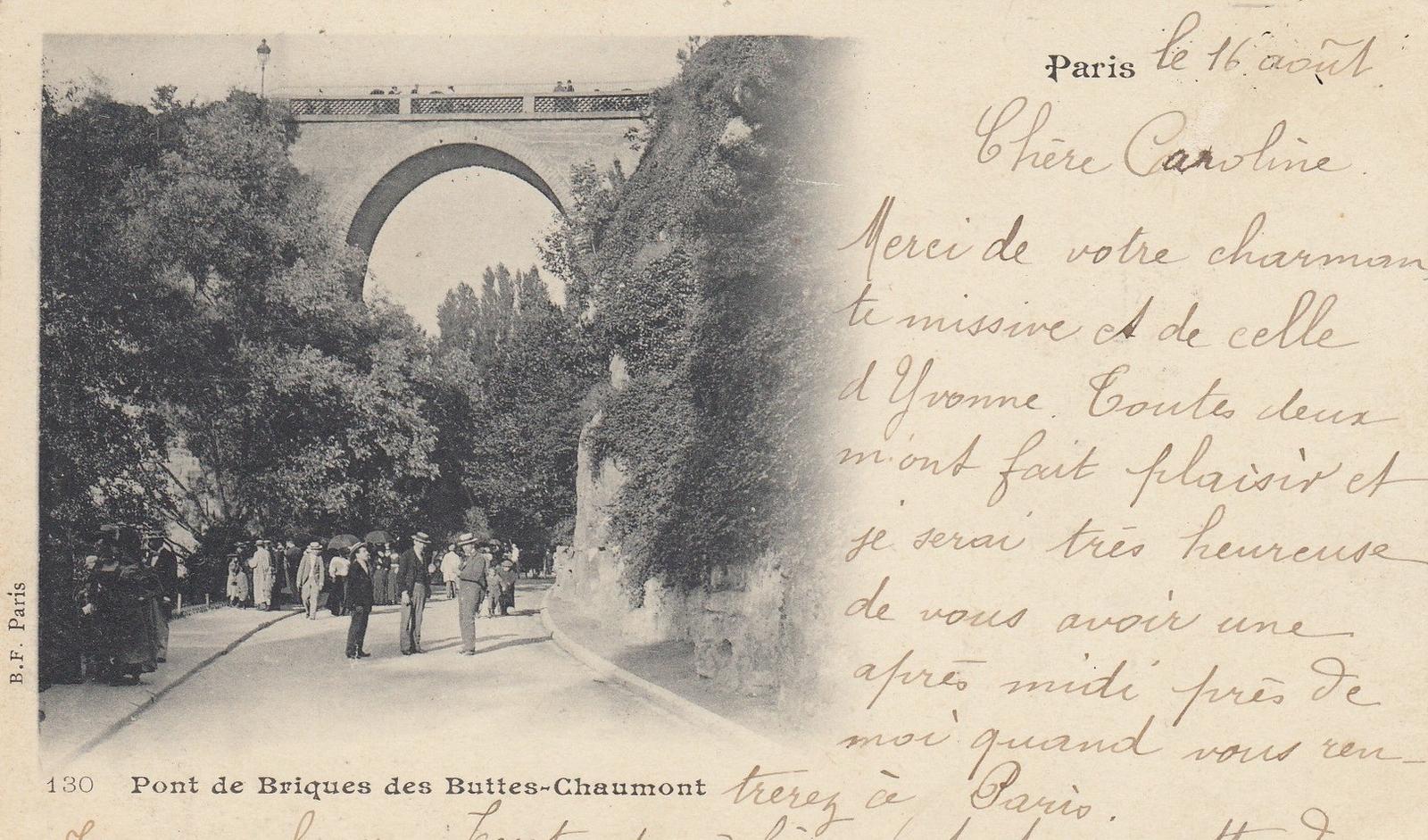 Paris - Paris - Pont de Briques des Buttes-Chaumont - belle animation