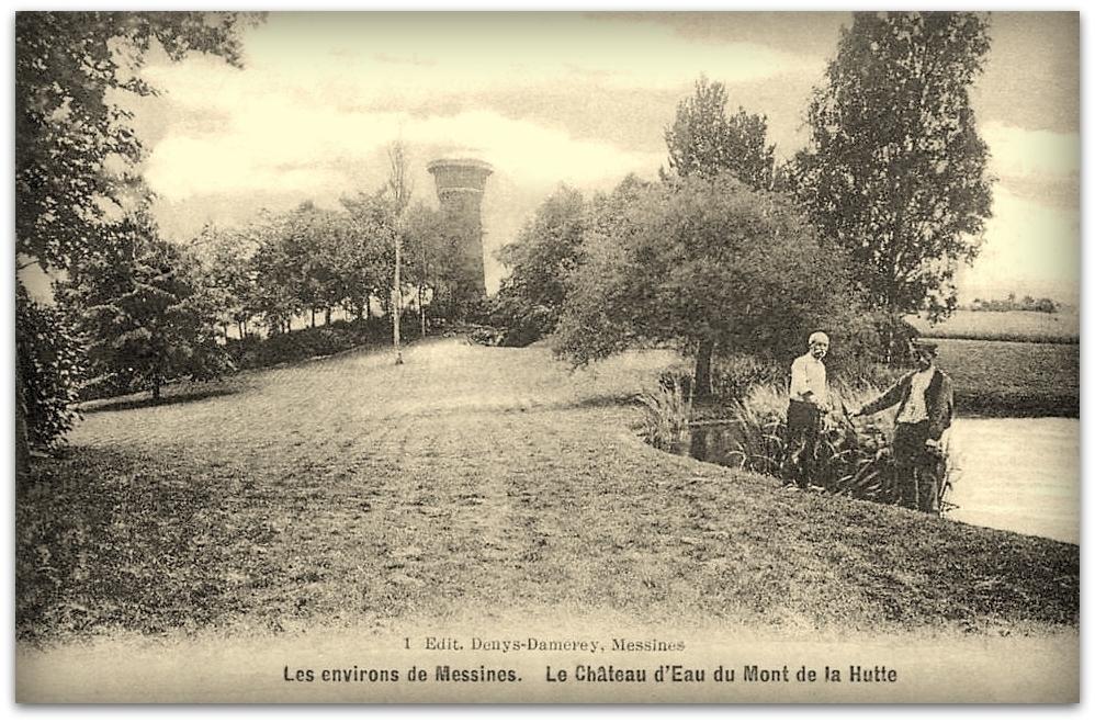 """Ploegsteert -  Ploegsteert """" Le Chateau d'Eau du Mont de la Hutte Anno 1912 """""""