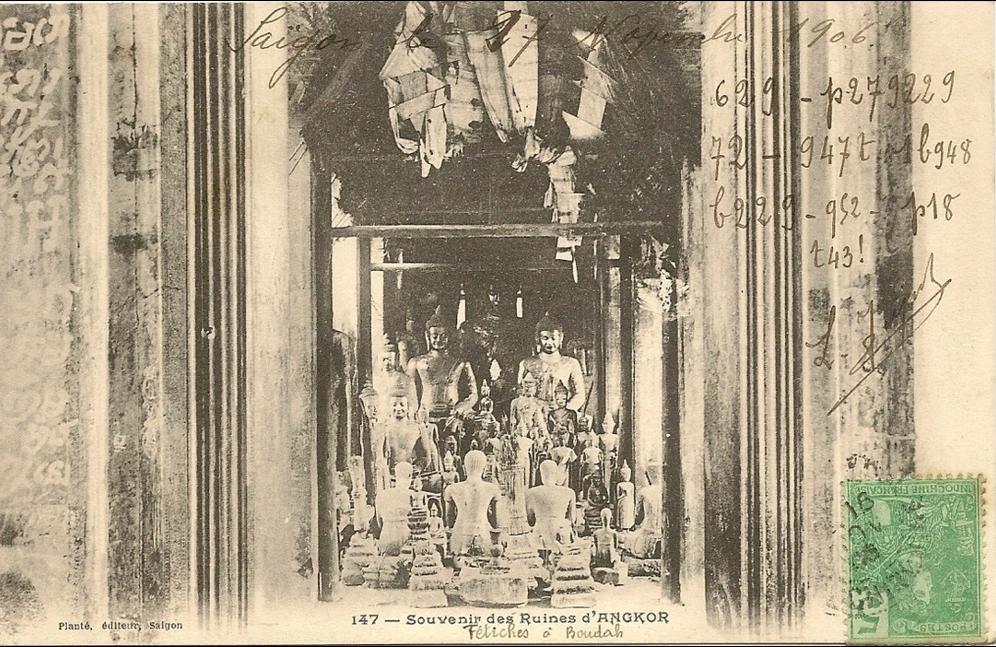 -  Viet-nam  -Souvenir des ruines d\´Angkor -Fetiches a Boudah - numero 147 editeur plante -