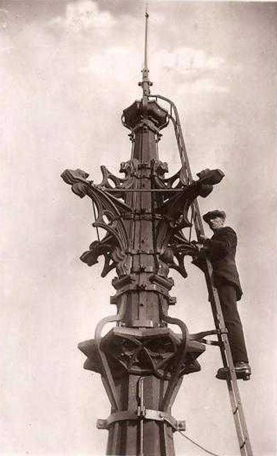 Strasbourg -  STRASBOURG (67), La flèche de la Cathédrale, vers 1920