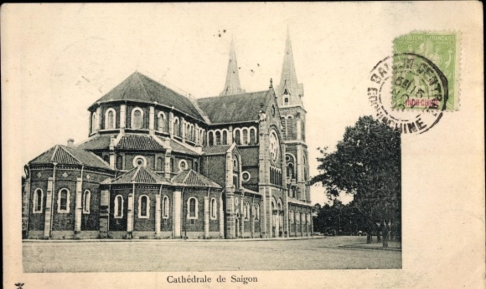 Hô Chi Minh-Ville -  Cp Saigon Cochinchine Vietnam, Cathédrale de Saigon