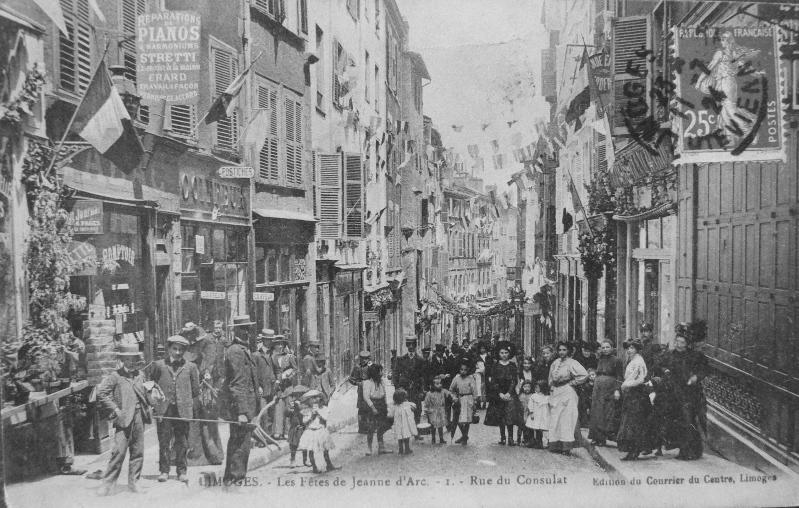 Limoges - Les Fêtes de Jeanne d'Arc - Rue du Consulat