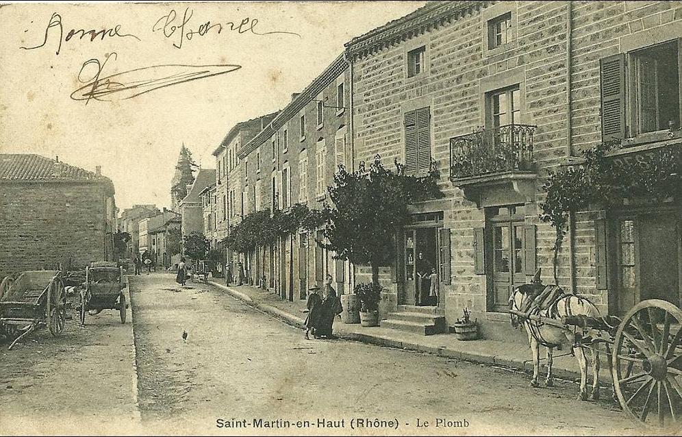 Saint-Martin-en-Haut - ST-MARTIN-en-HAUT(rhône) Le Plomb