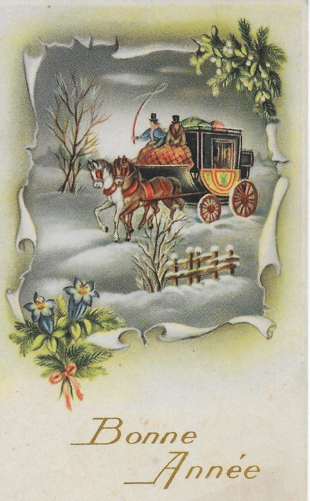 Bonne Année - Diligence dans paysage hivernal - Photochrom 630 - Carte  postale ancienne et vue d'Hier et Aujourd'hui - Geneanet