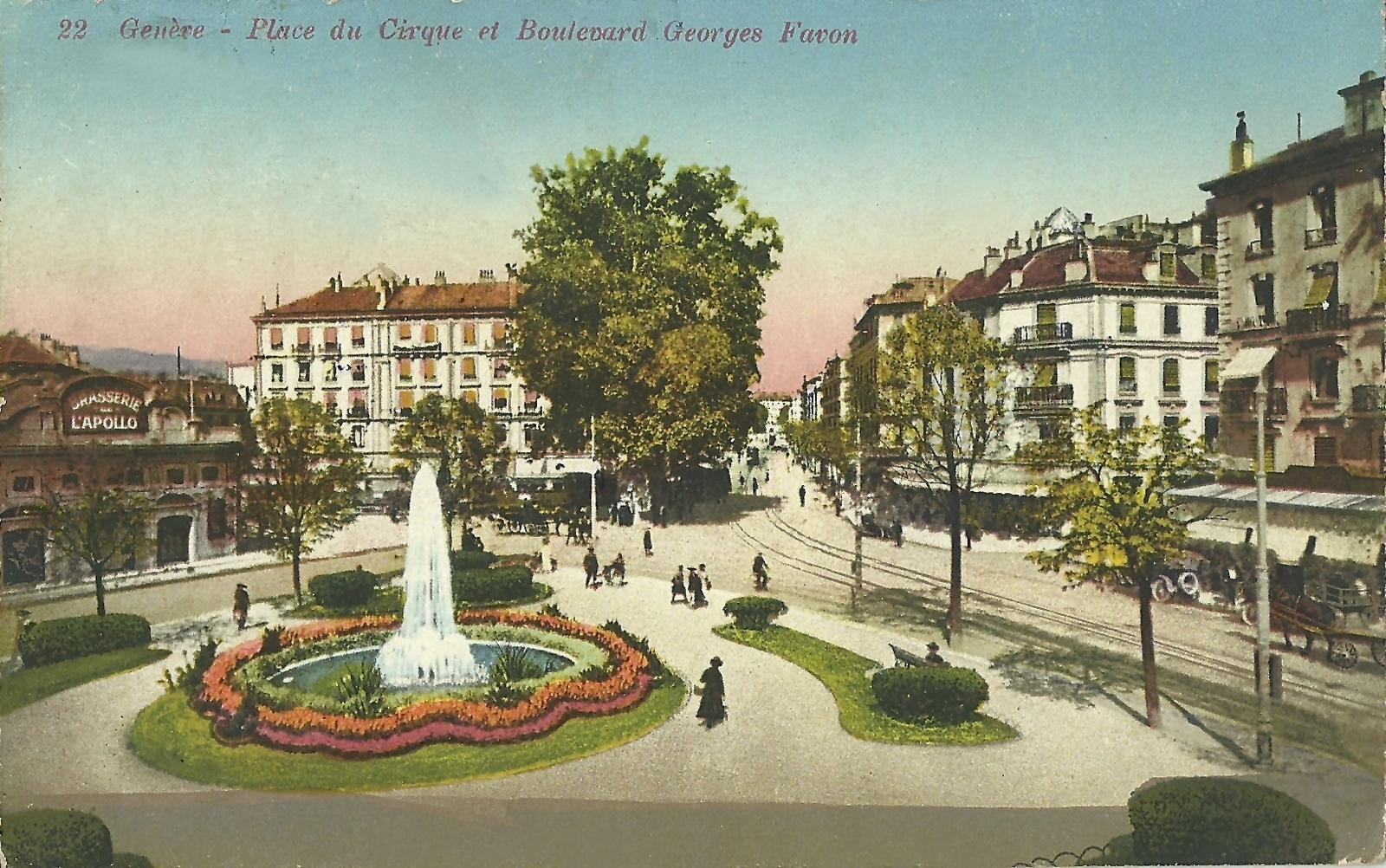 Genève - Place du Cirque et Boulevard Georges Favon