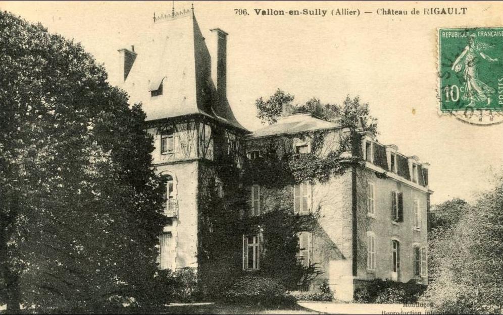 Vallon-en-Sully - R20627 cpa 03 Vallon en Sully - Château de Rigault