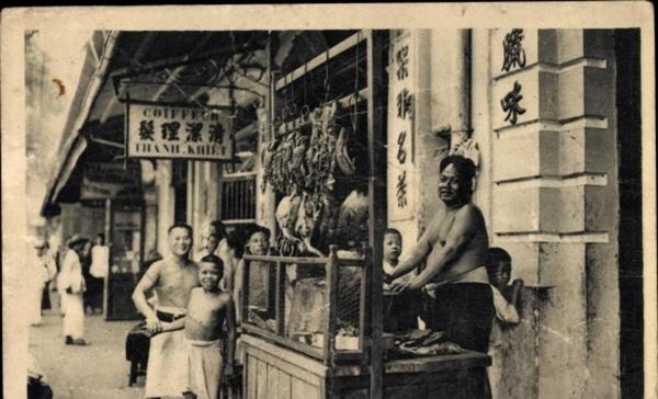 Cholon - Cp Cholon Ho Chi Minh Stadt Vietnam, Coiffeur, Marchand de viandes roties, Fleischverväufer, Friseur
