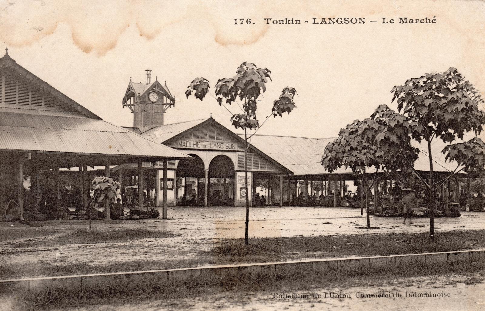 Langson -  TONKIN-Langson-Le Marché
