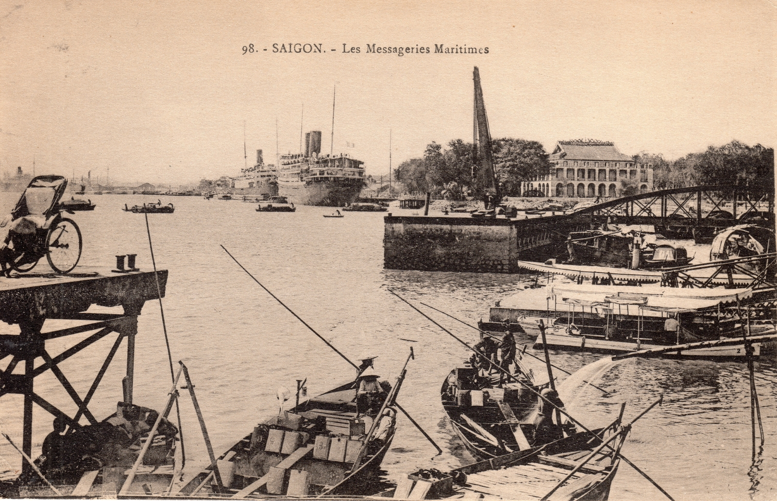 Saïgon -  Saïgon-Les Messageries Maritimes