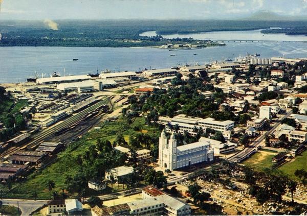 Douala - Vue aérienne - 1970