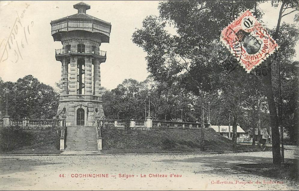 Ho-Chi-Minh -  VIET NAM . COCHINCHINE . SAIGON . LE CHATEAU D'EAU . CPA . 1910 .