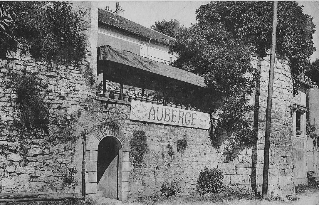 Moret Sur Loing Auberge De La Terrasse Carte Postale