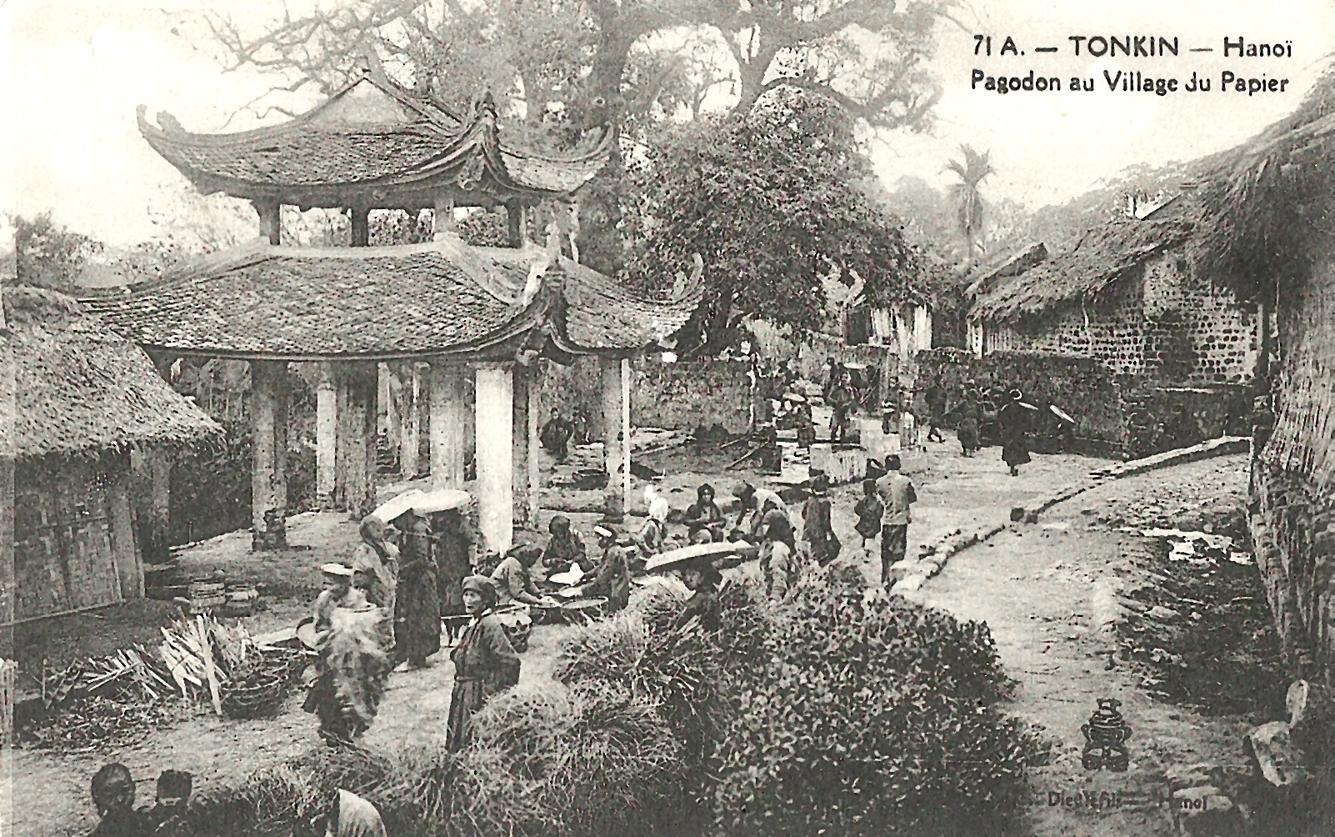 Hanoï -  Tonkin-Hanoï-Pagodon au village du papier