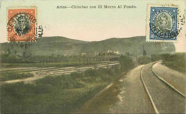 Arica - Chimbas con el Morro al fondo.